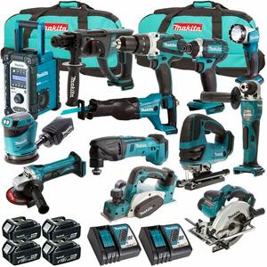 Commercio all'ingrosso Makitas XT1500 18-Volt LXT Lithium-Ion Cordless 15-Pezzi Combo Kit trapano