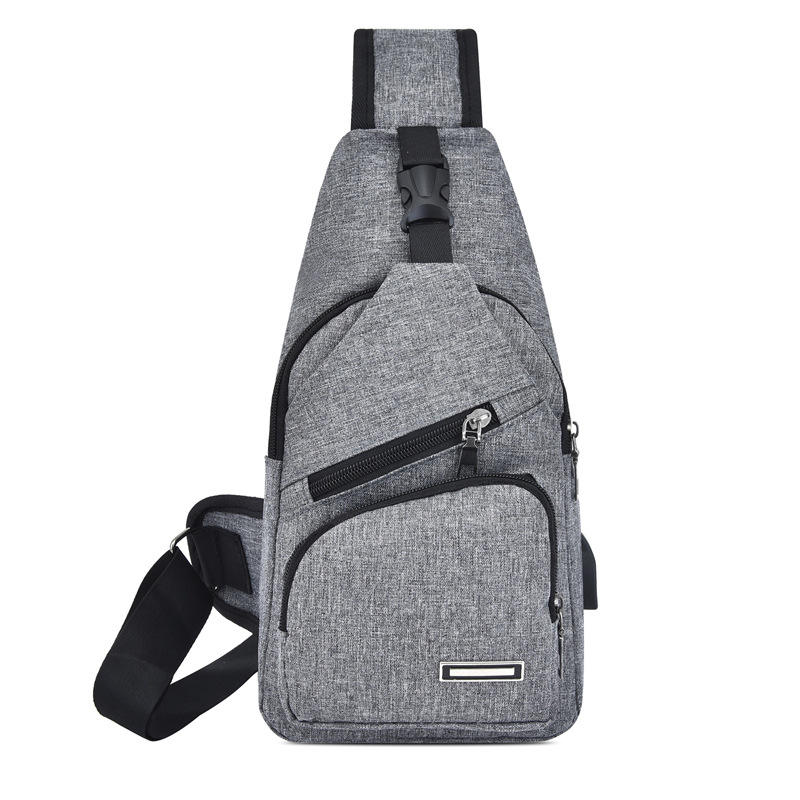 Fashion Model Canvas Messenger Bag Unisex 5 Color Shoulder Bag Crossbody USB Charging Anti Theft Sling Bag