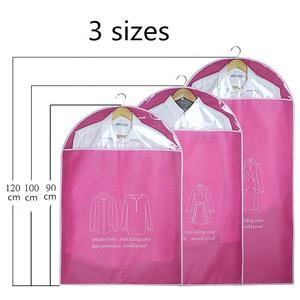 wholesale dance bags wedding dress clear nonwoven garment bags with pvc