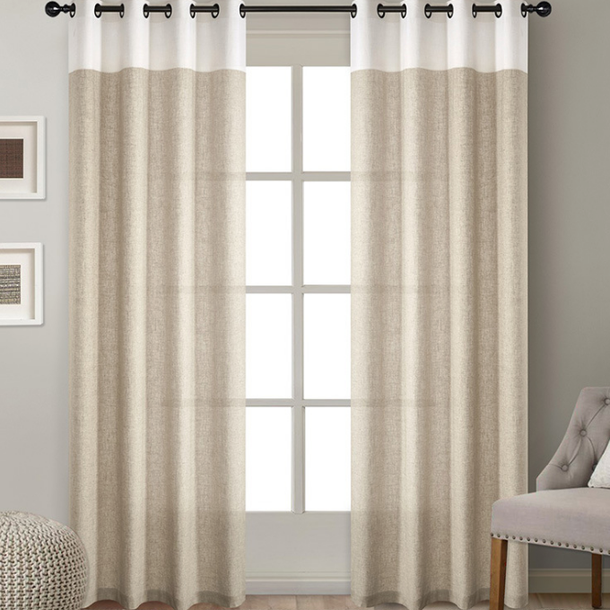 Wholesale blackout linen fabric flax fabric window curtain linen