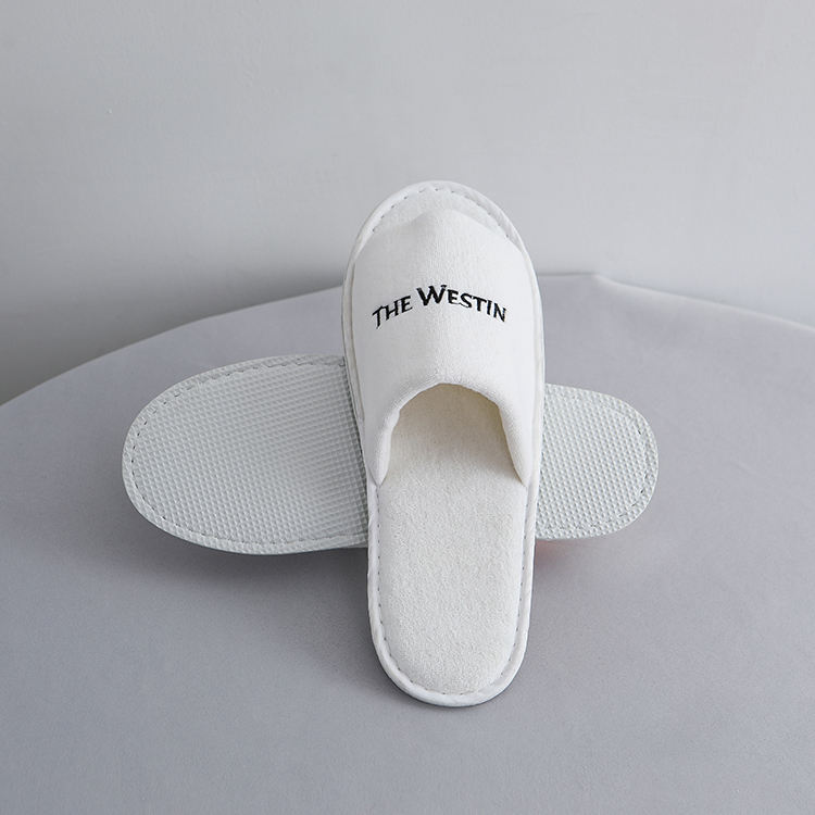 Hotel disposable 100% cotton terry towelling bath slippers, anti-slip bath slipper, washable cotton slippers