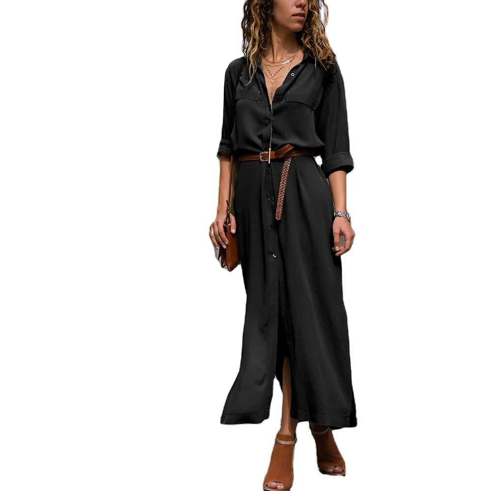 Autumn Fashion Loose Long Sleeve Dress Shirt For Woman Casual Ware