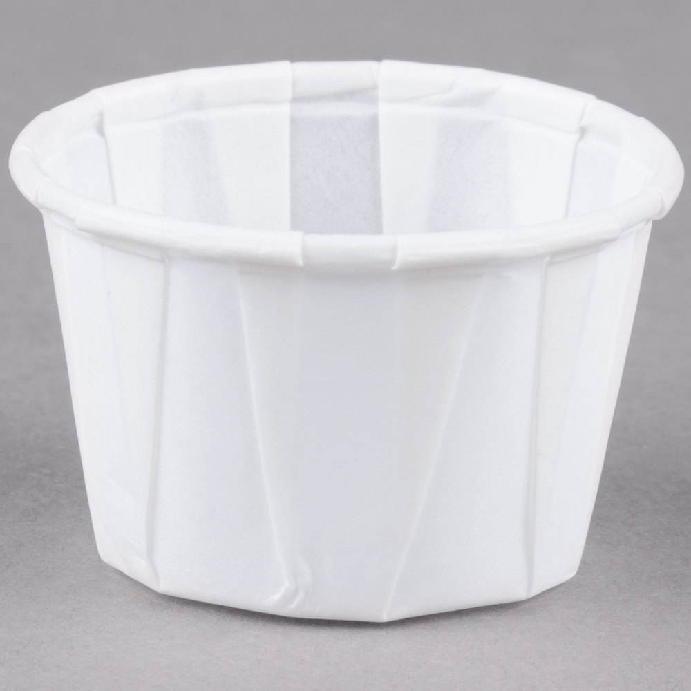 1 oz White Paper Souffle and Portion Cup