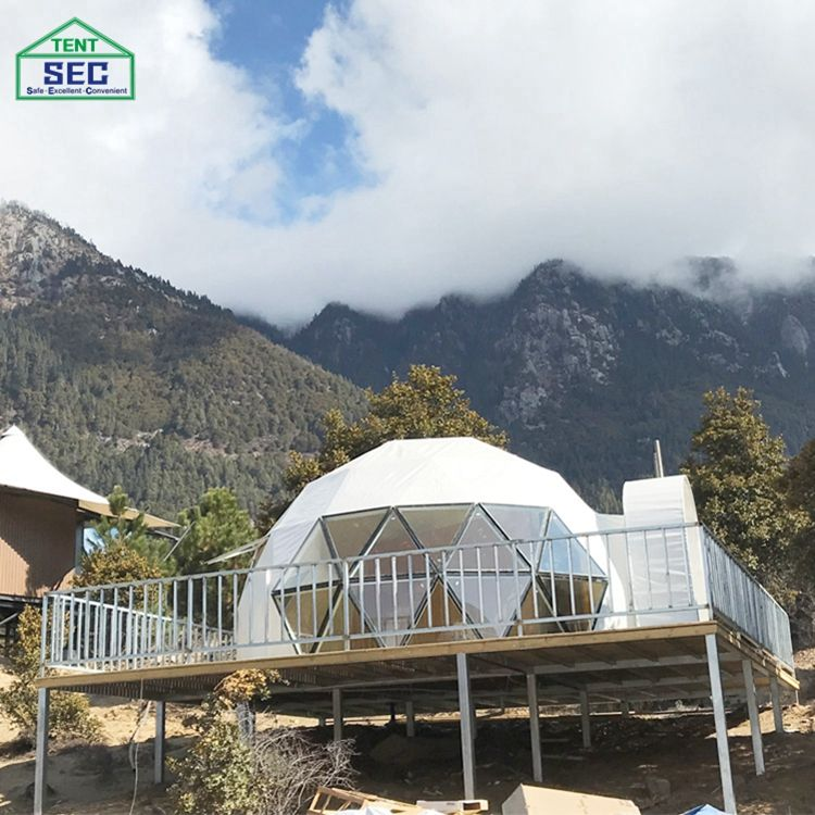 High Quality Eco Camping Hotel House Outdoor Dome Shaped Tent