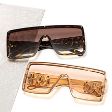 NWT6933 Big Box Letter Wide Leg Fashion Women Sunglasses 2021