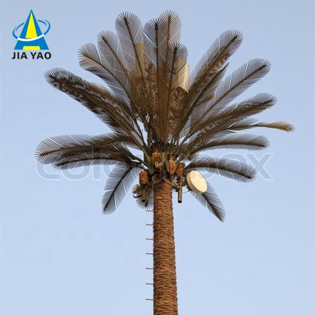30 foot antenna camouflage fake palm tree cell phone bts monopole tower