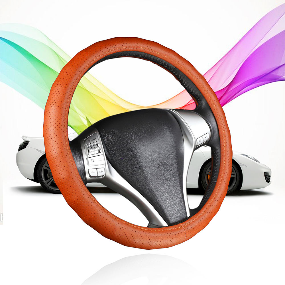 Factory supply directly PU PVC leather Ventilate Classics Car Steering Wheel Cover