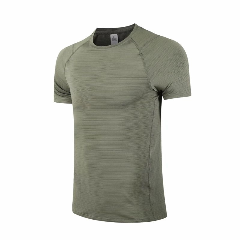 90% Polyester 10% Elastane Men's Quick Dry Moisture Wicking Active Athletic Performance Crew tshirt