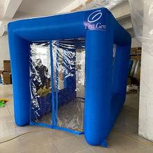 Fast Shipping in stock inflatable Disinfection channel,portable Fire Engine Access inflatable tunnel customized logo