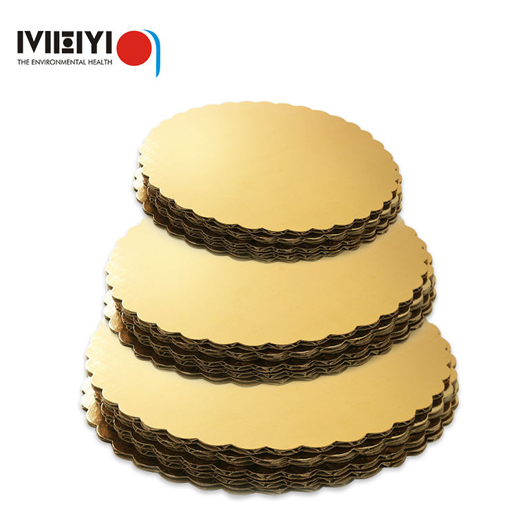 disposable cardboard golden cake base round board Cake Boards