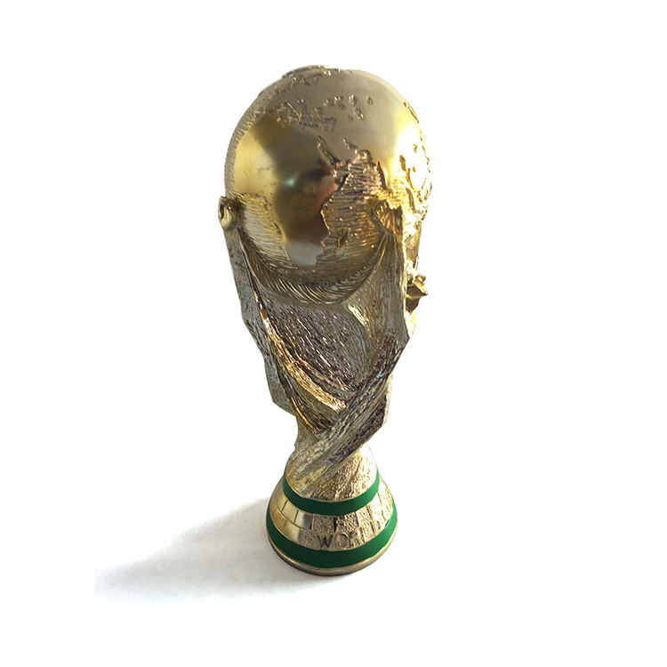 Custom abstract sportive resin crafts world champion trophy of souvenir