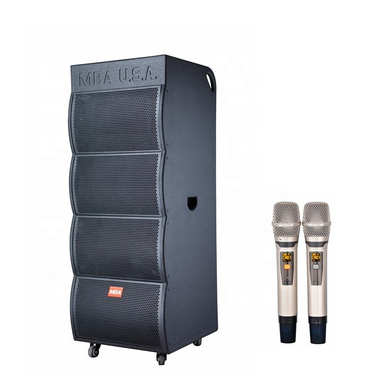 1000W High Power System Active Powered dual 15 inch Floor Stage Speaker with MDF with full painting SA-6607