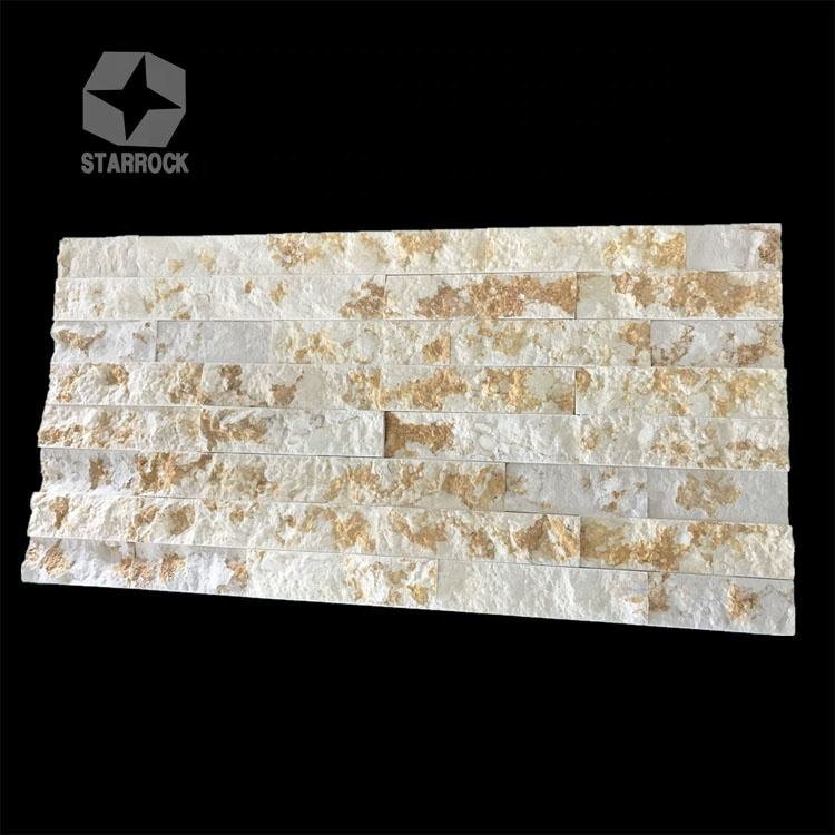 Natural Split Rough Surface Rusty Stacked Slate Culture Stone Wall Panel