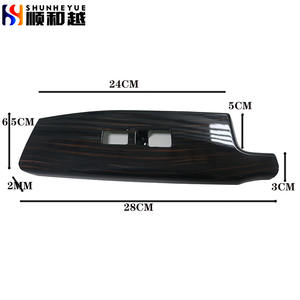 Custom Size Car Accessories ABS Decorative with carbon fiber Automobile interior glass switch armrest shell