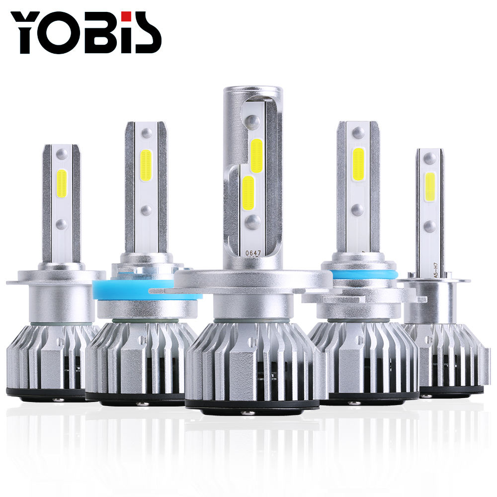 Yobis high low beam H1,H3,H4,H7,H8/H11,9005,9006,880,881led headlight Car lamp auto+lighting+system for universal