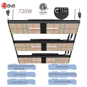 BAVA 1000w hps replace samsung lm301h red far red uv plant lamp v3 full spectrum 720w led grow lights for vertical farming