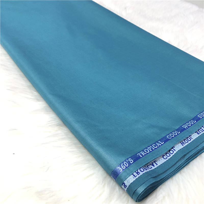 Super 380's blue twill 100% cashmere wool suit fabric in stock