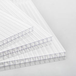 8mm 10mm 12mm 14mm 16mm Triple-layer Multiwall Greenhouse Plastic Sheet PC Polycarbonate Hollow Sheet