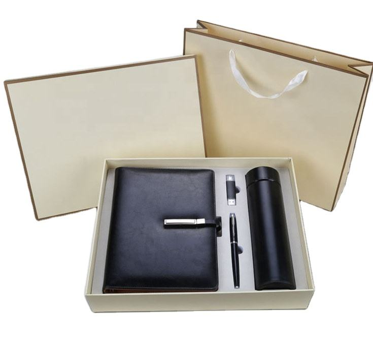 2020 Premium Notebook Thermos flask USB drive pen Business Luxury Corporate Men Gift Set