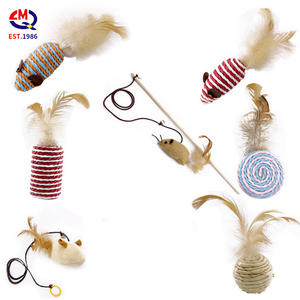 Seven-piece funny cat toy set mouse shaped pet toy mice pet cat toys mini funny playing toys for cats kitten feather cat toys