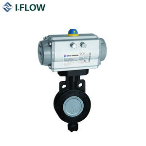 DN500 High performance triple offset double eccentric flange butterfly valve