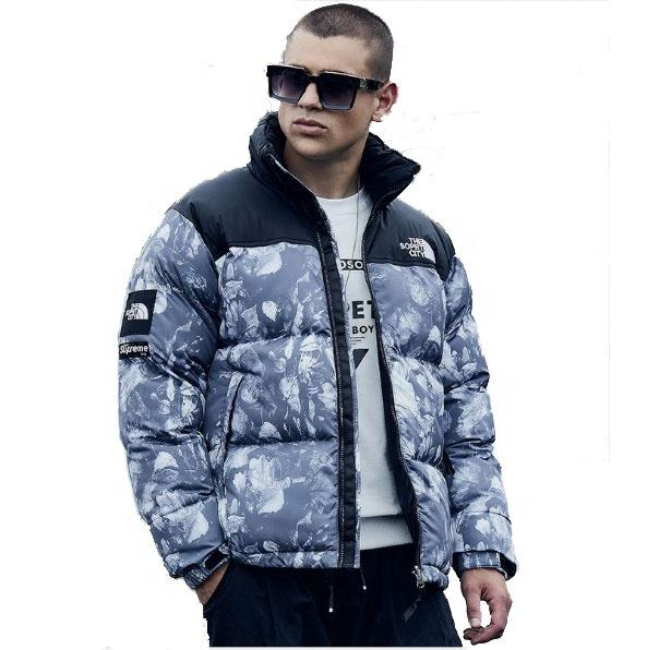 plus size thick padded outdoor jacket canada style white goose down coat face the cold north area men's apparel low price OEM