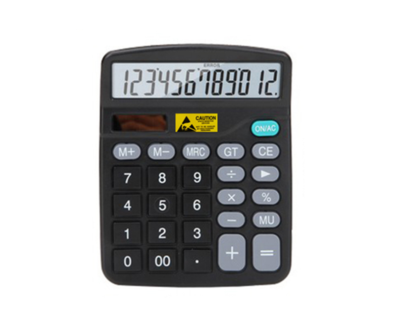 Dual power system 12 digits Plastic PP ESD Calculator