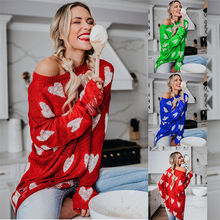 2019 Autumn Fashion Hollow Out  Heart Pattern Women knitted Sweater