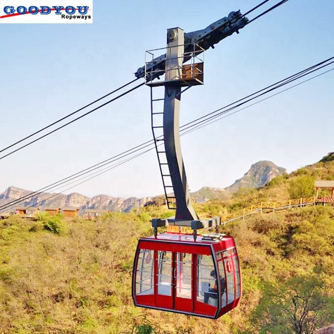 Toursim ropeway aerial tramway cabin for 30 persons