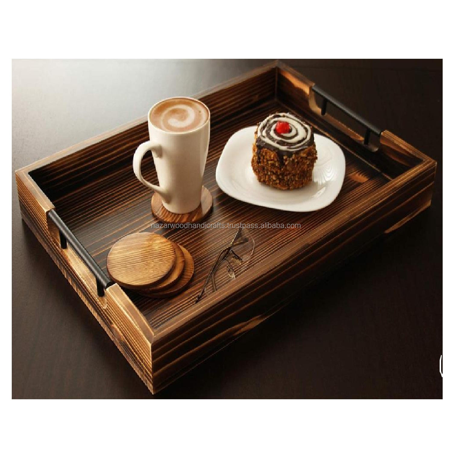 ECO FRIENDLY WOODEN HAND MADE KITCHEN SERVING TRAY ITEM