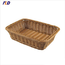 Supermarket Plastic  Fruits and Vegetables Storage Basket Wicker Basket