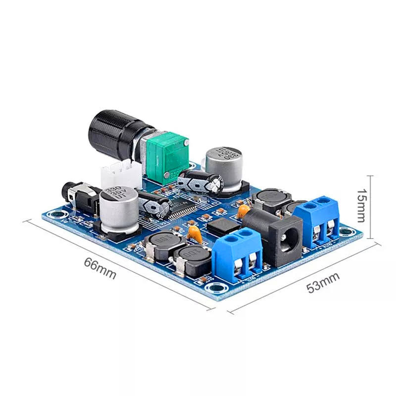 Amplifier Board TPA3116D2 50W+50W Dual Channel Mini Digital 12V-24V 2x50W Class D Amplifier Power Amplifier