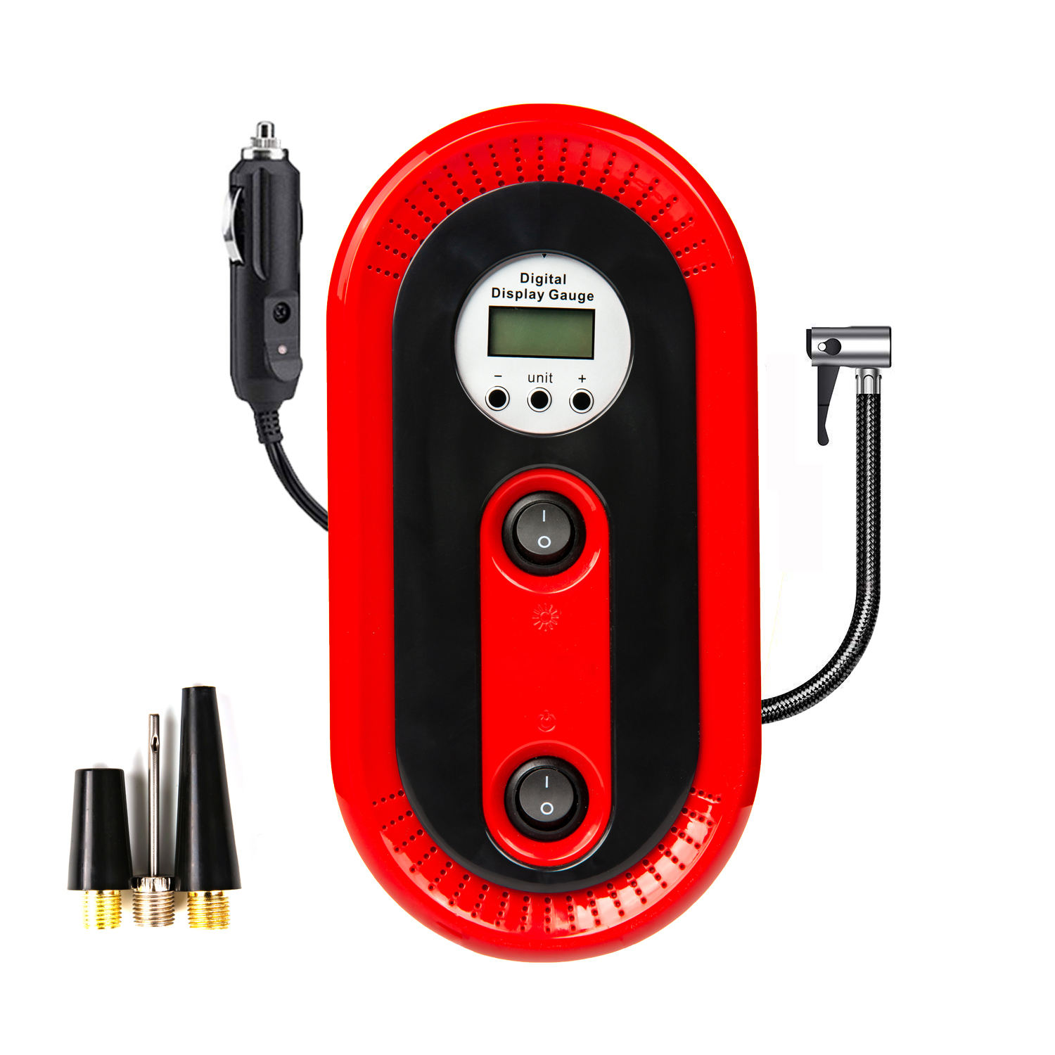 MutomatiacalConvenient tire inflator lithium For SUV,ball,air mattress,soccer balls,car,bike,inflatables,etc.Red