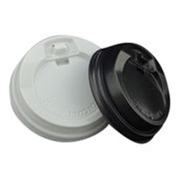 High-quality cold drink lids, flat lids with straw slot, plastic lids for paper cups