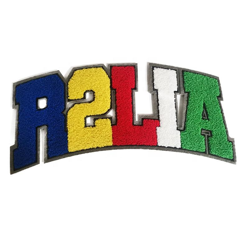 Free Sample Custom Chenille Patch Embroidery Letters Iron On
