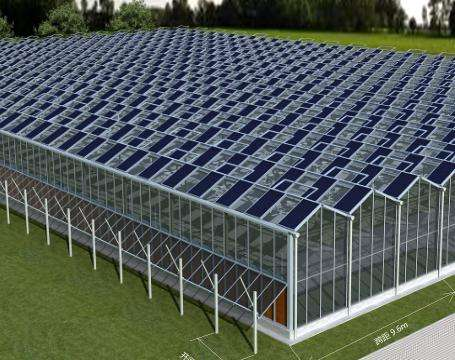 Low cost solar panels photovoltaic greenhouse by solar panels