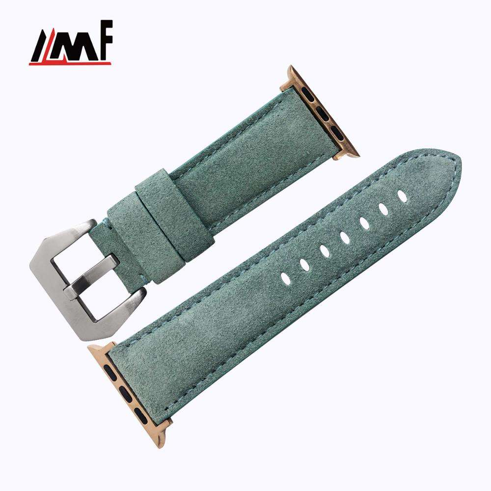 2020 New DetachableCalf custom Leather Water Resistant Watch Strap Band For Apple Watch