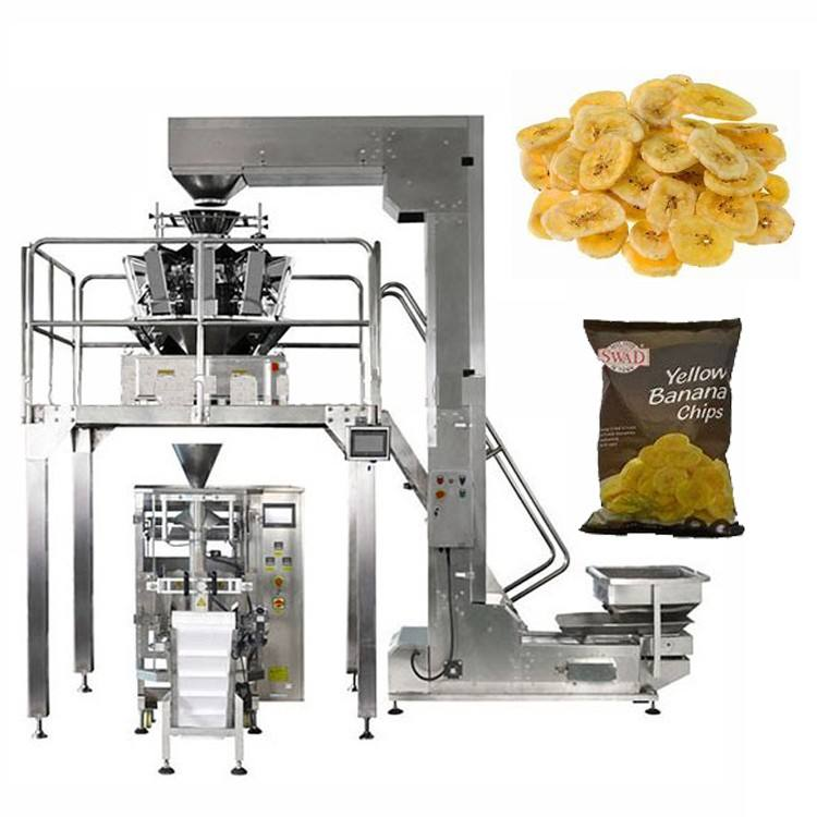 Multi-function packaging machine for snack potato chips packing machine food banana chip packaging machine