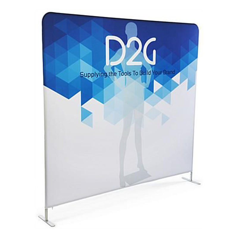 Fabric Display Rack No Moq Custom Printed Pop Up Banner Stand Advertising Curved Pop Up Banners Printed
