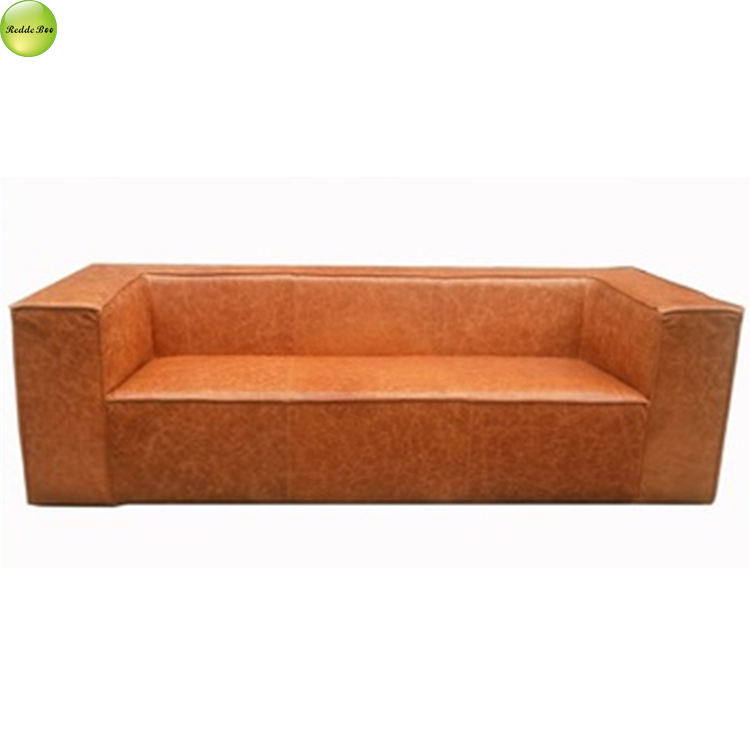 Foshan new fashion kulit ditambah kain sofa furniture