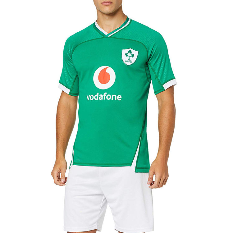 Official 19/20 Ireland Rugby Men's Home Pro Jersey free shipping