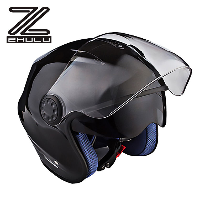 ECE approved Double lens 3/4 open face helmet Motorcycle helmet summer