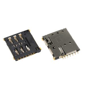 Memory Socket 78800-0001 78800 Series Hinged Push-Pull Phosphor Bronze, Micro SIM 6 Contacts Pack of 20
