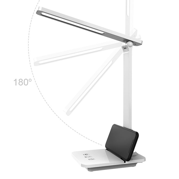 14w folding touch dimmable led desk lamp usb reading hotel study table lamp rechargeable table light led with eye-protection