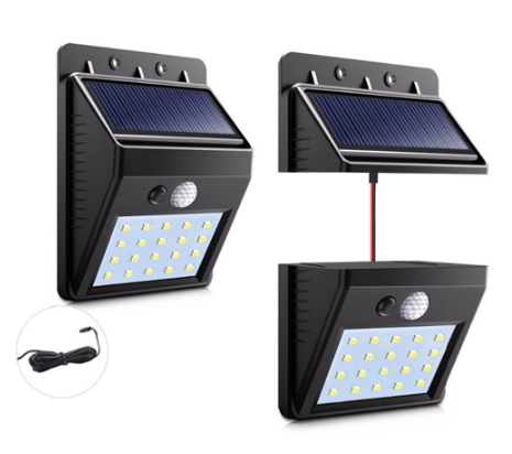 20/30LED de la <span class=keywords><strong>luz</strong></span> del panel <span class=keywords><strong>solar</strong></span> Separable lámpara <span class=keywords><strong>Solar</strong></span> Led impermeable al aire libre de la pared de seguridad de movimiento PIR Sensor LED <span class=keywords><strong>Solar</strong></span> <span class=keywords><strong>luz</strong></span>