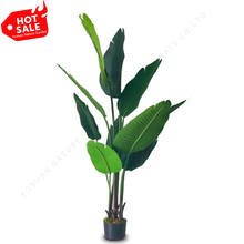 Indoor Home Traveler Fake Green Plant Potted Decoration Plastic Banana Artificial Tree