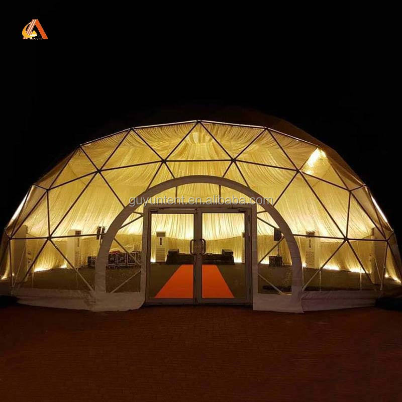 Geodesic Doms PVC Dome Permanent Type Family Tents for Sale