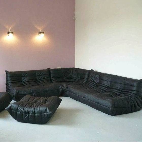 Vintage design furniture replica togo sofa low arm sectional sofa lazy sofa by leather