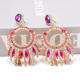 Kaimei Fashion Jewelry Wholesale Hang Colorful Crystals Dangling Drop Earrings Fine Rhinestone Large Earrings For Women 2020