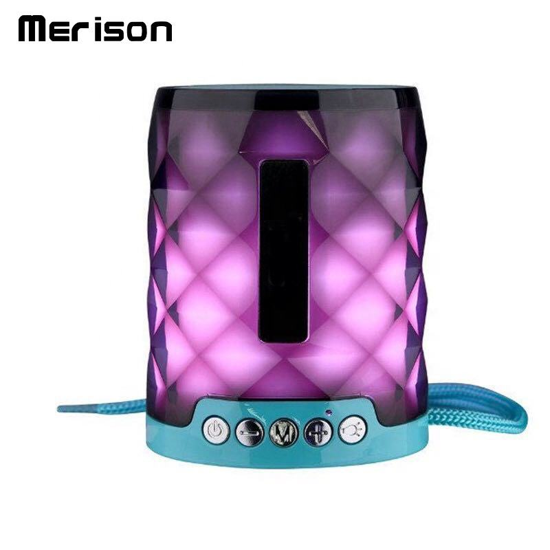 outdoor bass wireless directional rhinestone sound bar box speakers with colorful diamonds light